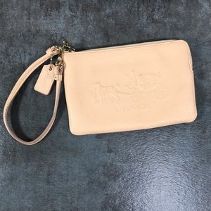 Coach Anniversary Horse Carriage L-Zip Wristlet